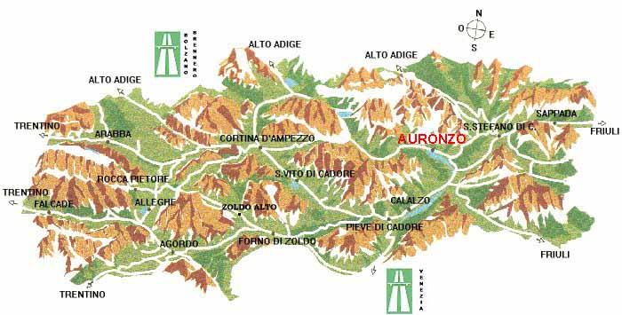 Cartina Geografica Dolomiti.Carta Geografica